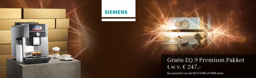 Siemens EQ koffie volautomaat cadeau!