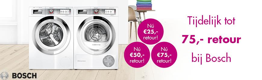Bosch wasmachine en droger actie