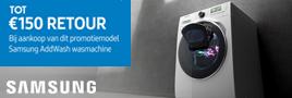 Samsung AddWash wasmachines cashback