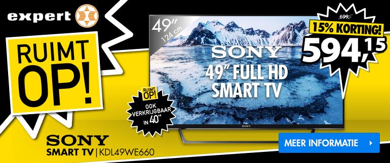 SONY SMART TV: NU VOOR 594,15!