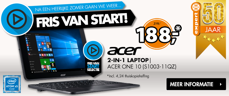 Acer 2-in-1 laptop: NU 188,-!
