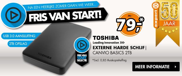 Toshiba Externe Harde Schijf: Nu 79,-!