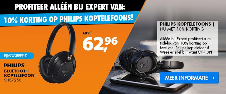 Philips koptelefoons: 10% korting!