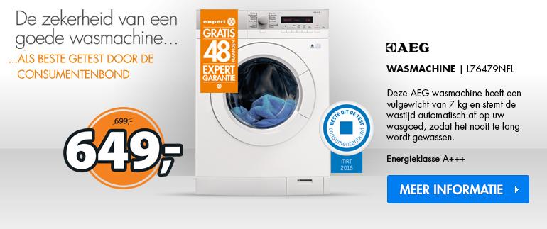 AEG wasmachine: nu 649,-!