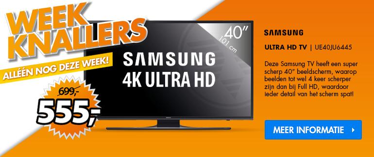 Samsung UHD TV: nu €555,-!