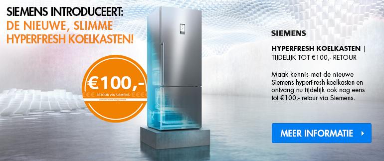 Siemens koelkasten: tot €100 cashback
