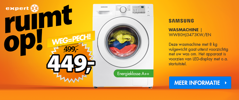 Samsung wasmachine: nu voor €449!