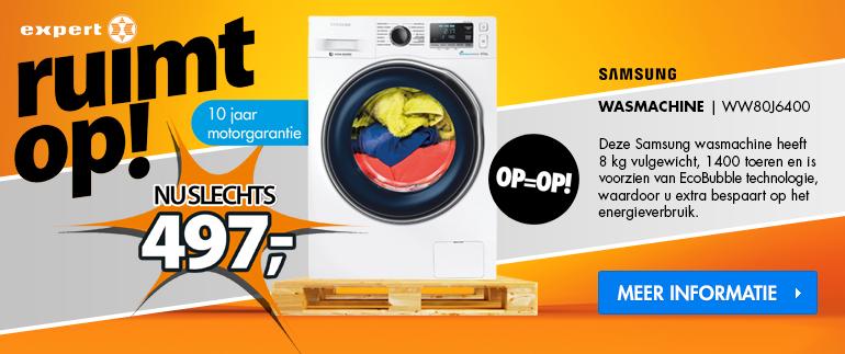 Samsung wasmachine: nu 497,-!