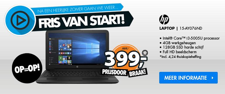 HP laptop: Nu €399,-