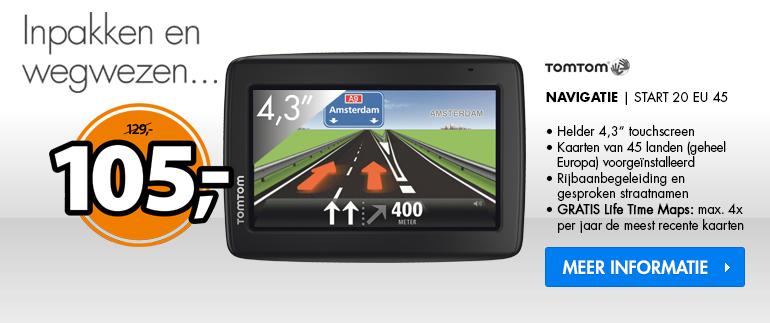 TomTom Navigatie: Nu €105,-!