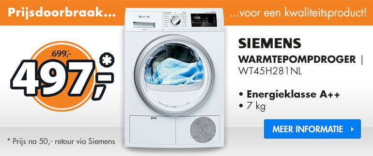 Siemens droger: nu €497,-!