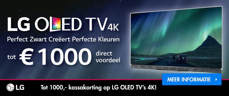 LG OLED TV: tot €1000,- voordeel!